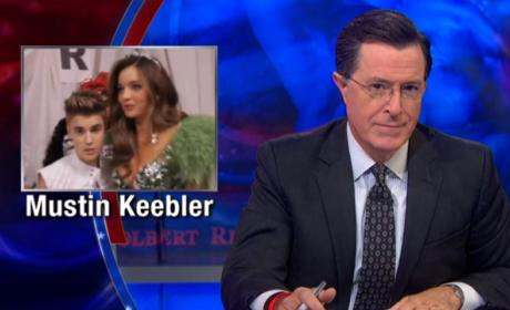 Stephen Colbert Talks Justin Bieber-Orlando Bloom Fight