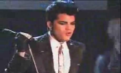 "Watch Adam Lambert Perform ""Music Again"""