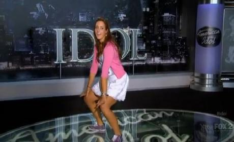 Ali Shields Raps, Kisses, Dances on American Idol