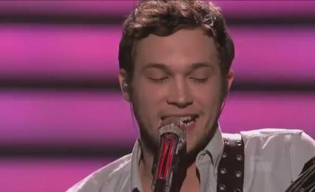 Phillip Phillips Reads from Genesis on American Idol 80s Night