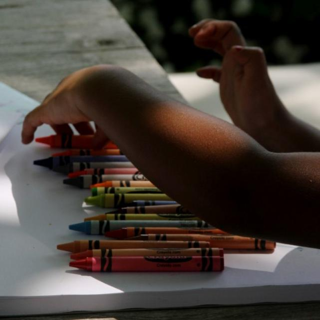 Blue Ivy With Crayons