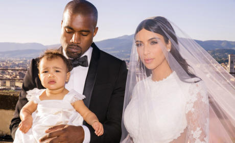 NEW Kim Kardashian Wedding Photos: First Official Family Portrait!