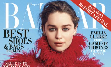 Emilia Clarke: Bazaar Cover