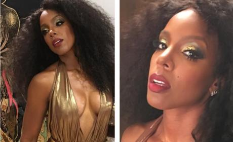 Kelly Rowland Looking Great At Beyonce's 35th Birthday Party