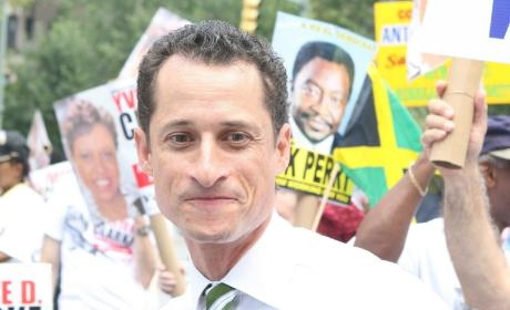 Anthony Weiner at a Rally