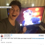 Ansel Elgort Takes Selfie in front of John Green