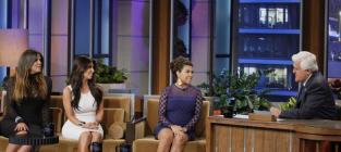 Kim, Khloe and Kourtney Kardashian Talk Nonsense on The Tonight Show