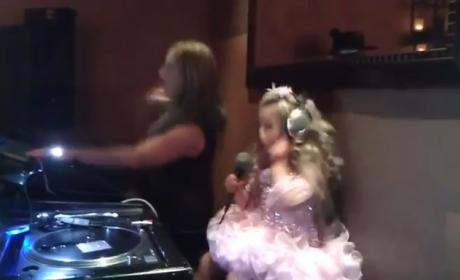 "Isabella Barrett, 5, Hits NYC Nightclub; Sings ""Sexy"" LMFAO Single"