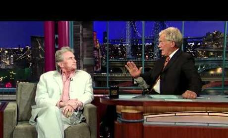 Michael Douglas and David Letterman Hug It Out, Conduct Cancer Q&A
