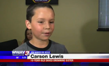 10-Year-Old Boy Saves Sister From Drowning