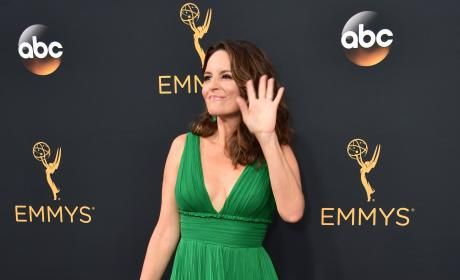 Tina Fey at the 2016 Emmys