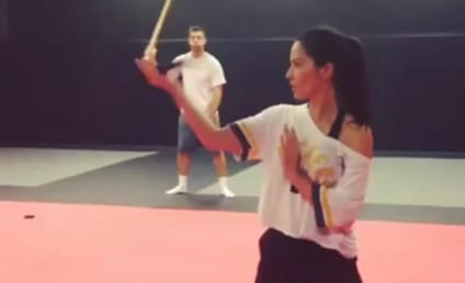Olivia Munn Shows Off Sword Skills, Is Hotter Than Ever