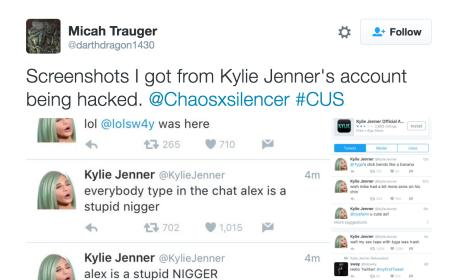 Kylie Jenner's Twitter Was Hacked (Page 1)