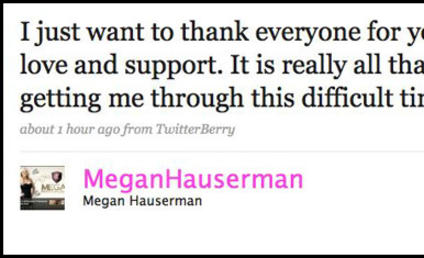 Megan Hauserman Thanks Fans For Support