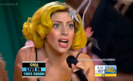 Lady Gaga on Good Morning America: Sexy Wizard of Oz Characters Galore!