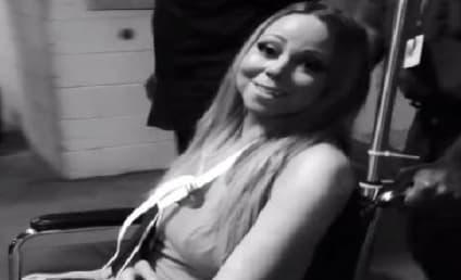 Mariah Carey Leaves Hospital in Sling: Watch Now!