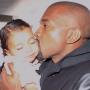 Kanye Kisses North