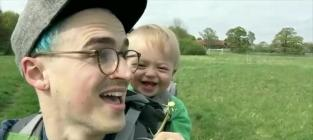 Kid CRACKS UP Over Dandelion
