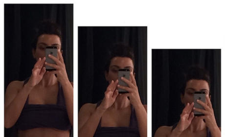 Kim Kardashian Flaunts Abs, Flashes Under-Boob in Post-Workout Selfie