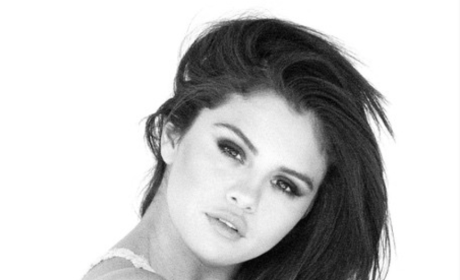 Selena Gomez in Black/White