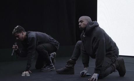 "Kanye West - ""Wolves"" SNL Performance"