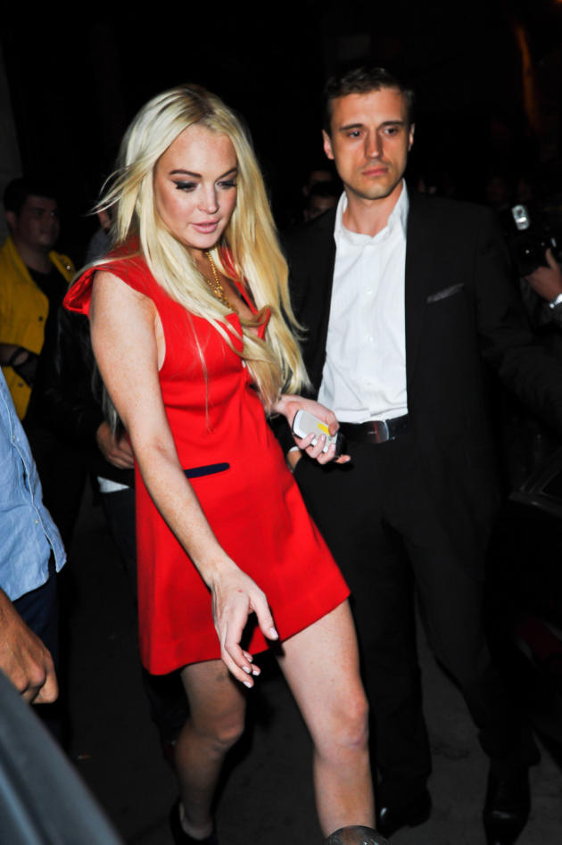 Lindsay Lohan, Red Dress