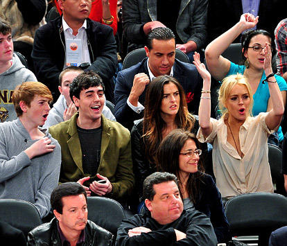 Lohan at the Game
