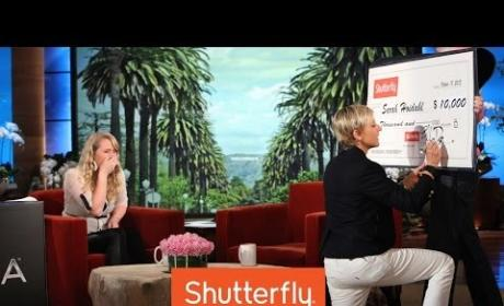 Waitress Gets Amazing Surprise From Ellen