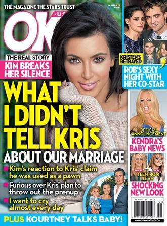 Kim Kardashian on OK! Weekly