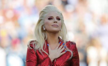 Lady Gaga National Anthem at Super Bowl 50