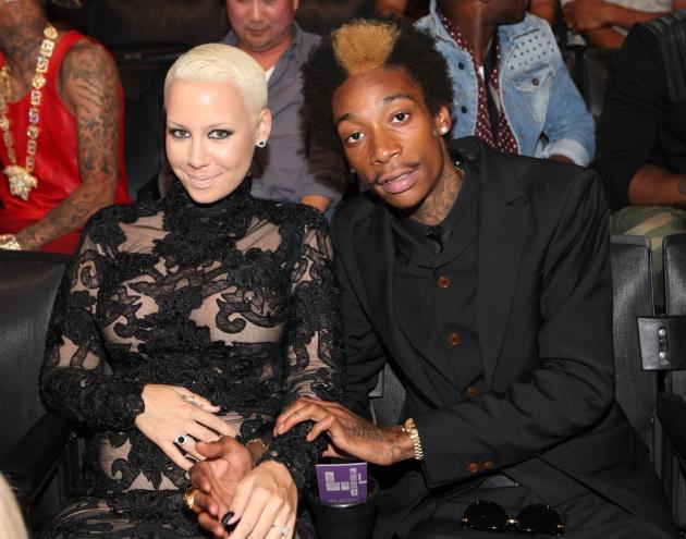 Pregnant Amber Rose and Wiz Khalifa