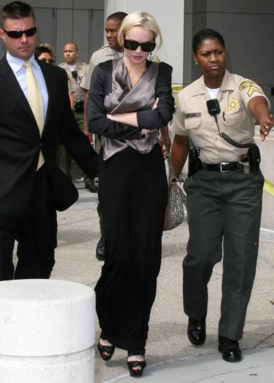 Lohan at Progress Report Hearing