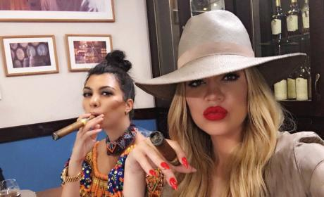 Khloe and Kourtney Kardashian in Cuba