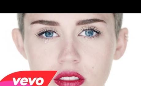 "Miley Cyrus Cries and Cries in Director's Cut of ""Wrecking Ball"" Video"