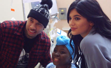 Kylie Jenner and Tyga Visit Children's Hospital, Avoid Controversy for Once