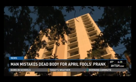 Florida Man Mistakes Suicide Jumper's Body For Mannequin, Assumes April Fools Prank