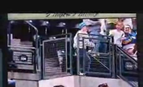 Young Baseball Fan Channels Michael Jackson