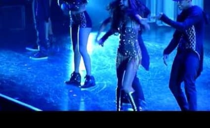 Selena Gomez Tumbles Off Stage, Keeps Dancing