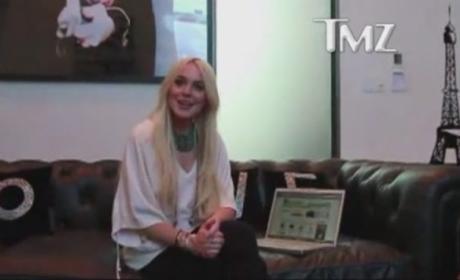 Lindsay Lohan Films Online Ad During House Arrest