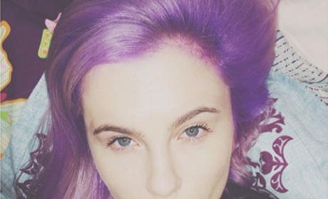 Ireland Baldwin Goes Purple