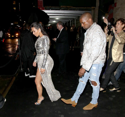Kim Kardashian and Kanye West Leave Balmain's Met Ball After Party