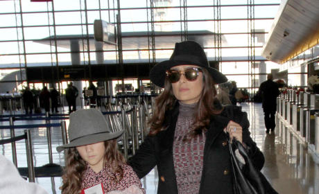 Salma Hayek and Daughter Valentina Pinault Arrive at ALAX