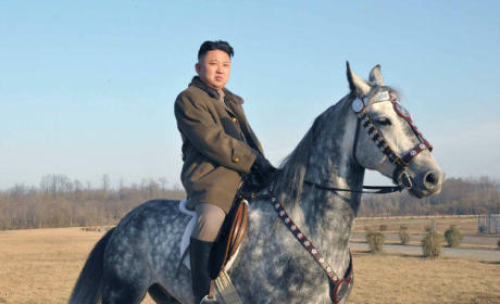 Kim Jong Un: On a Horse! Firing a Gun! Trying to Look Hard!