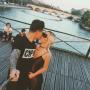 Pauly D. Aubrey O'Day Selfie Stick Kiss Paris
