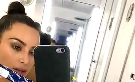 Kim Kardashian Bathroom Selfie