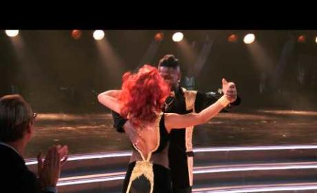 Antonio Brown and Sharna Burgess - DWTS Premiere