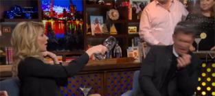 Brandi Glanville Throws Wine on Watch What Happens Live!