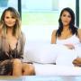 chrissy teigen kim kardashian white couch pic