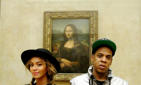 Beyonce, Jay Z, and Blue Ivy at the Louvre