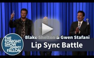 Gwen Stefani and Blake Shelton Lip Sync Battle Against Jimmy Fallon